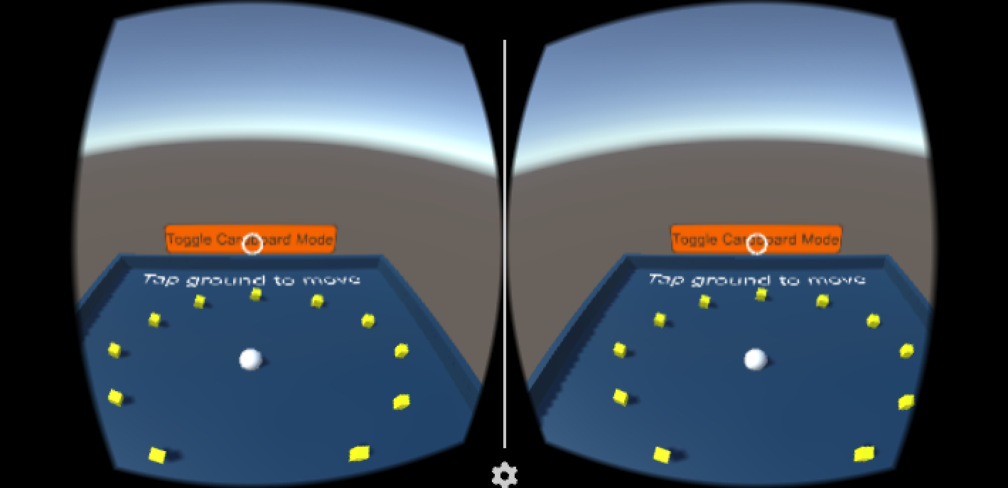 Roll-a-Ball VR in the Unity Editor