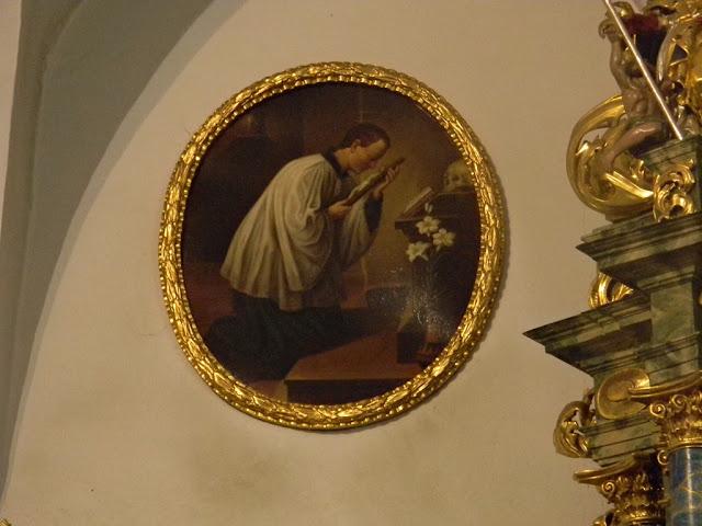 Sobin, kościół, obrazy, święci, krzyż, modlitwa