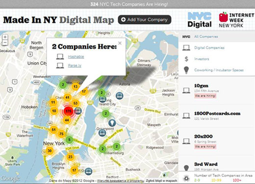 NY Mayor Bloomberg Announces Made In New York Digital Map To - Digital maps online