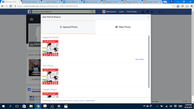 Facebook Profile  Picture upload it- Facebbok