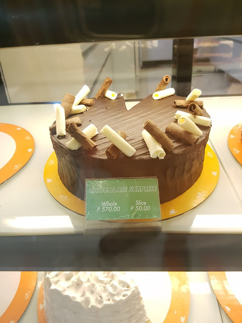 Leona's Bakeshop  Chocolate Surprise @P50.00 per slice