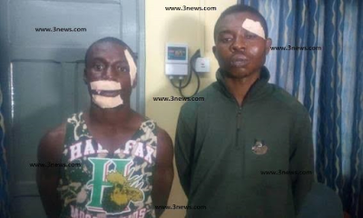 Photo: 2 Nigerian arrested in Ghana for daylight robbery