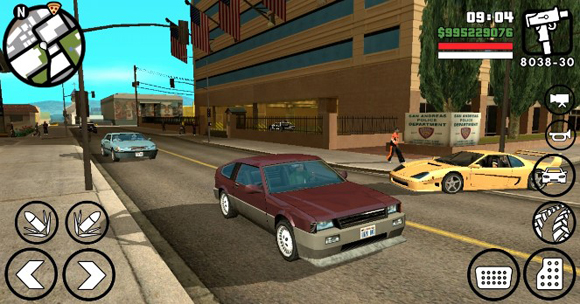 Game Grand Theft Auto San Andreas Lite v9 GPU Adreno
