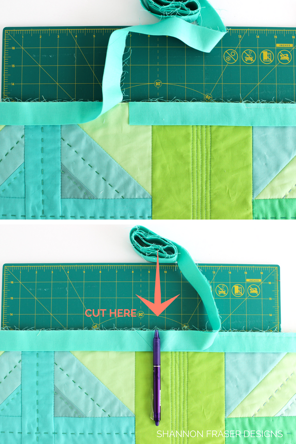 How to join quilt binding ends | Quilt Binding Tutorial - Part 1 | Step by step instructions to create and attach your own quilt binding | Shannon Fraser Designs #quilttutorial