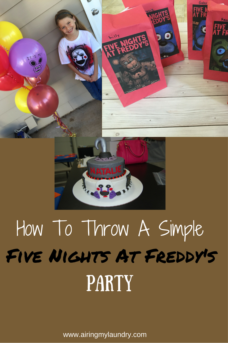 Ideas five nights at freddy party - How To Throw A Simple Png