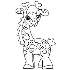 Printable Giraffe Coloring Sheet Images