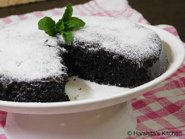 eggless microwave chocolate cake recipe