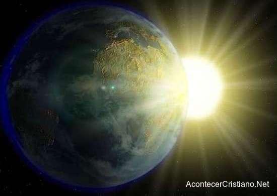 El sol cerca a la Tierra