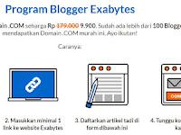 Promo Gila Domain .COM Cuma Rp. 9.900 dari Exabytes Indonesia