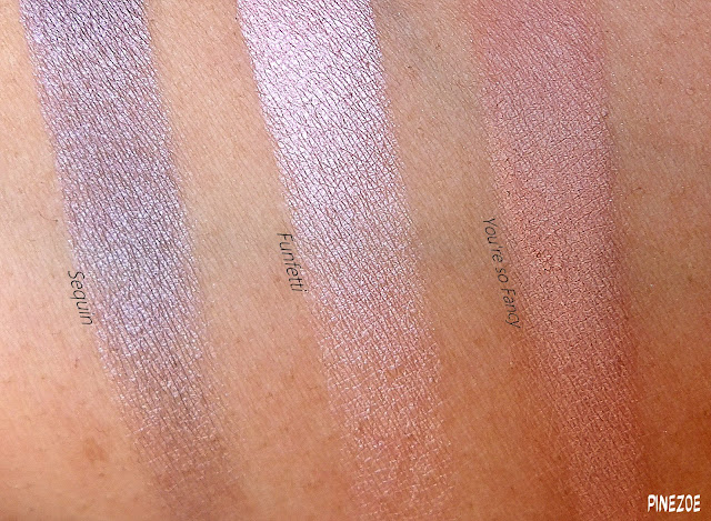 Funfetti Palette / Too Faced / It's fun to be a girl! (swatches on medium dark skin)