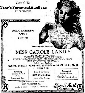Carole Landis Auction