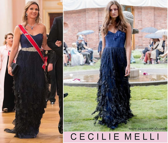 Princess Martha Louise wore CECILIE MELLI Cora Gown