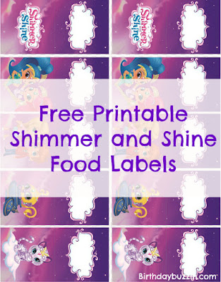 Shimmer and Shine food labels