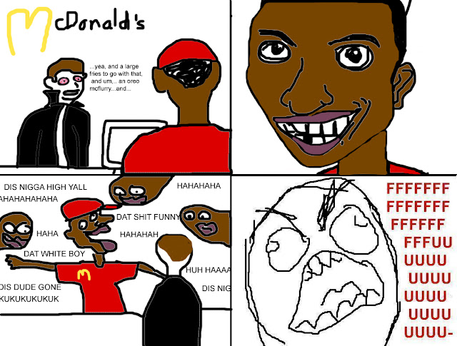 Stoner comic with black guy at mcdonalds