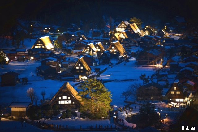 ảnh làng xóm đêm mùa đông