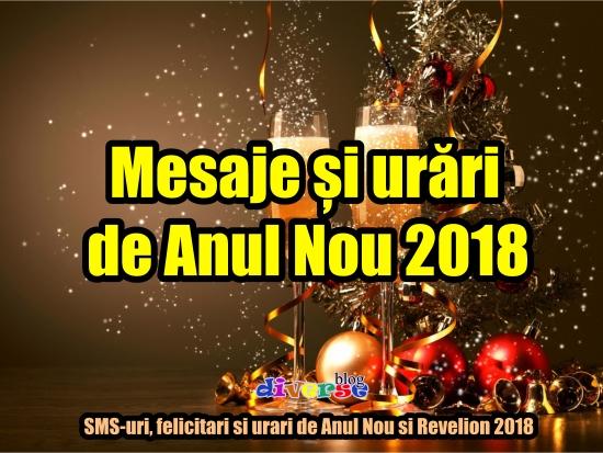 Mesaje si urari de Anul Nou si revelion 2018
