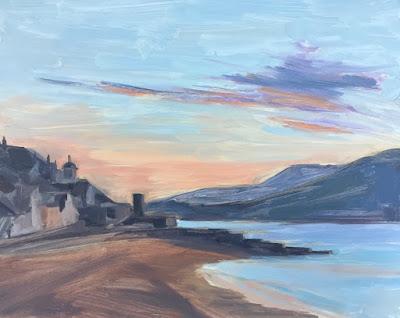 #131 'Sunrise, Lyme Regis' 8×10″