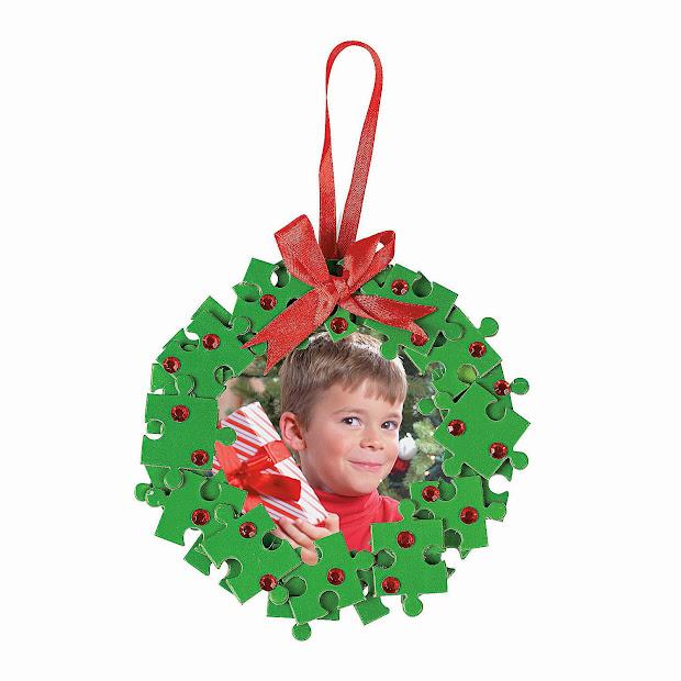 Preschool Frame Christmas Ornament Craft