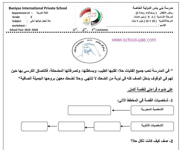 مراجعة الوحدة الخامسة سر السعادة  لغة عربية للصف الثالث الفصل الدراسى الثانى 2020