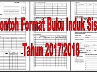 Contoh Format Buku Induk Siswa Tahun 2017/2018