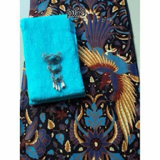 Kain Batik Primis dan Embos 72 biru