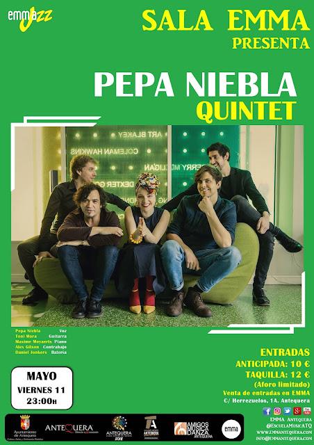 Concierto de Pepa Niebla Quintet en Antequera