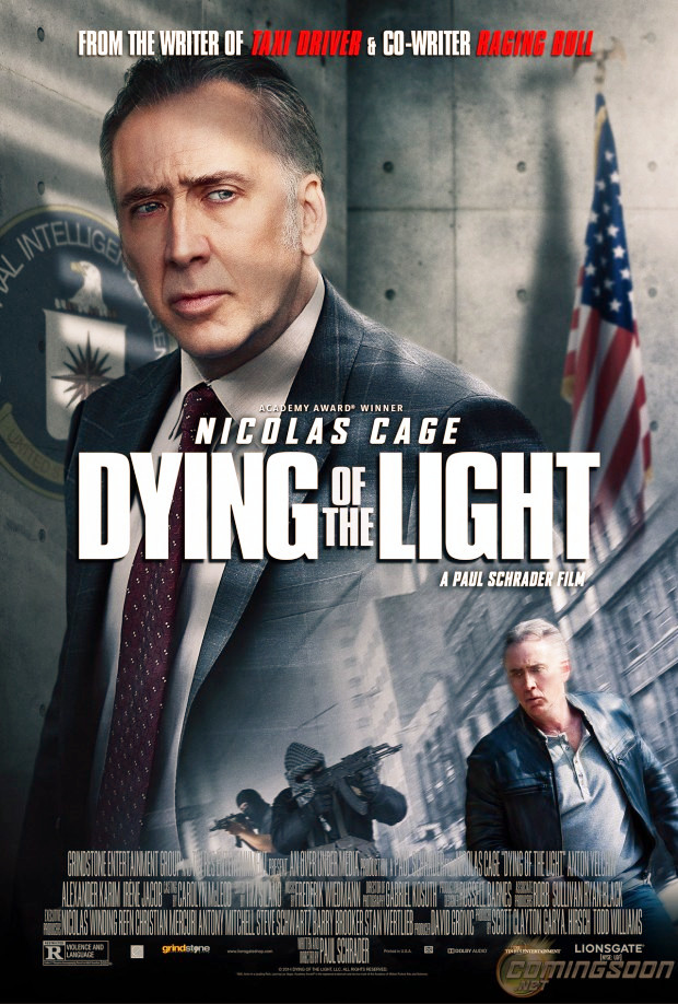 Film Dying of the Light (Nicolas Cage, Anton Yelchin) - Poster