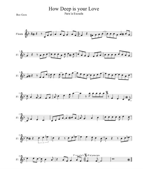 Bee Gees - How deep is your love partitura