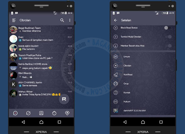 BBM Dark Navy updated v3.3.0.16 Latest