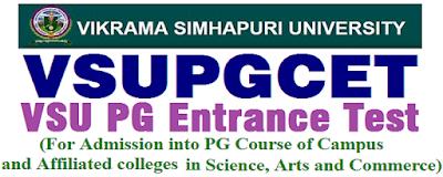VSU PGCET 2019 notification - Vikrama Simhapuri University