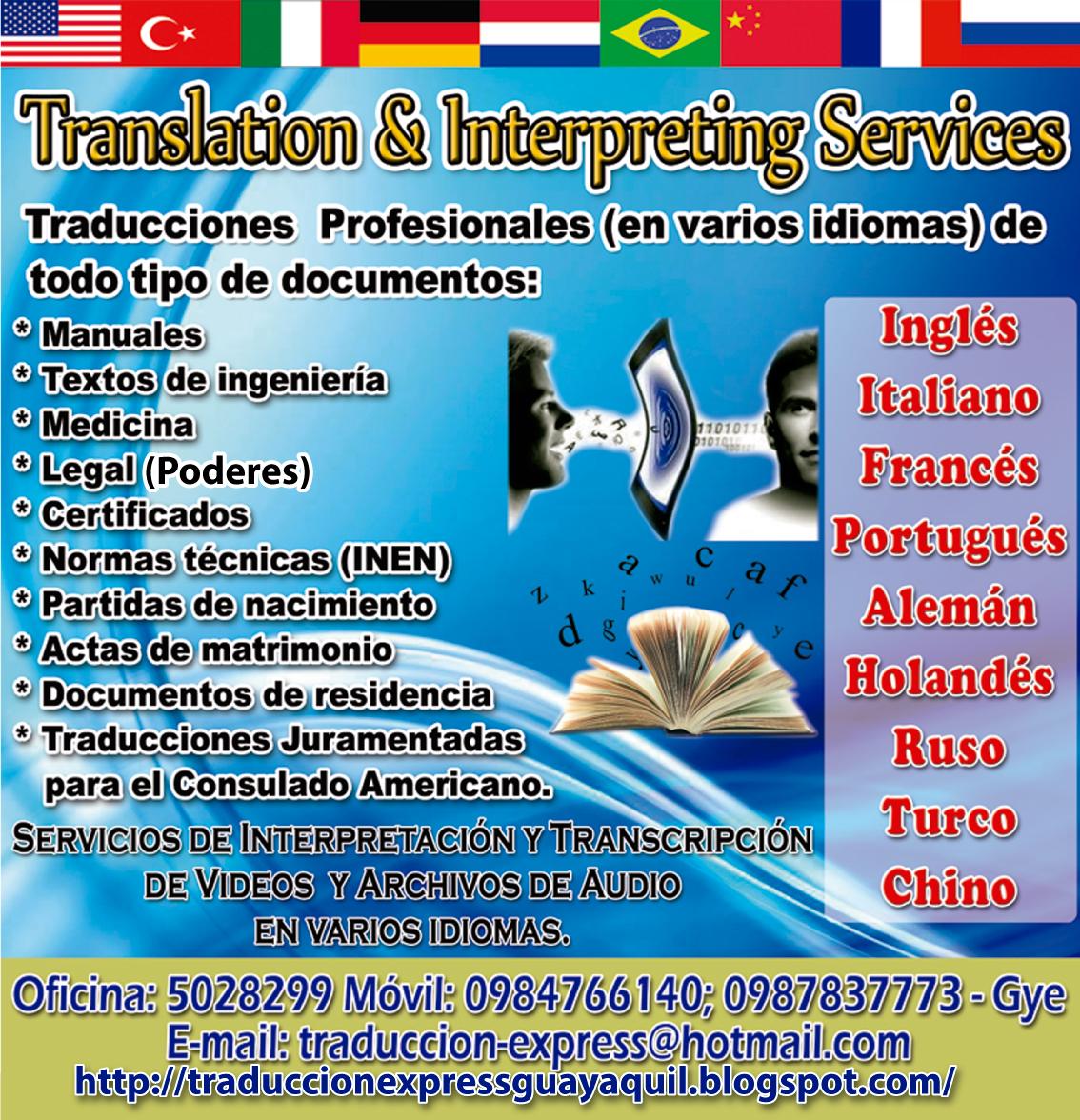 Traduccion Express Guayaquil, Ecuador