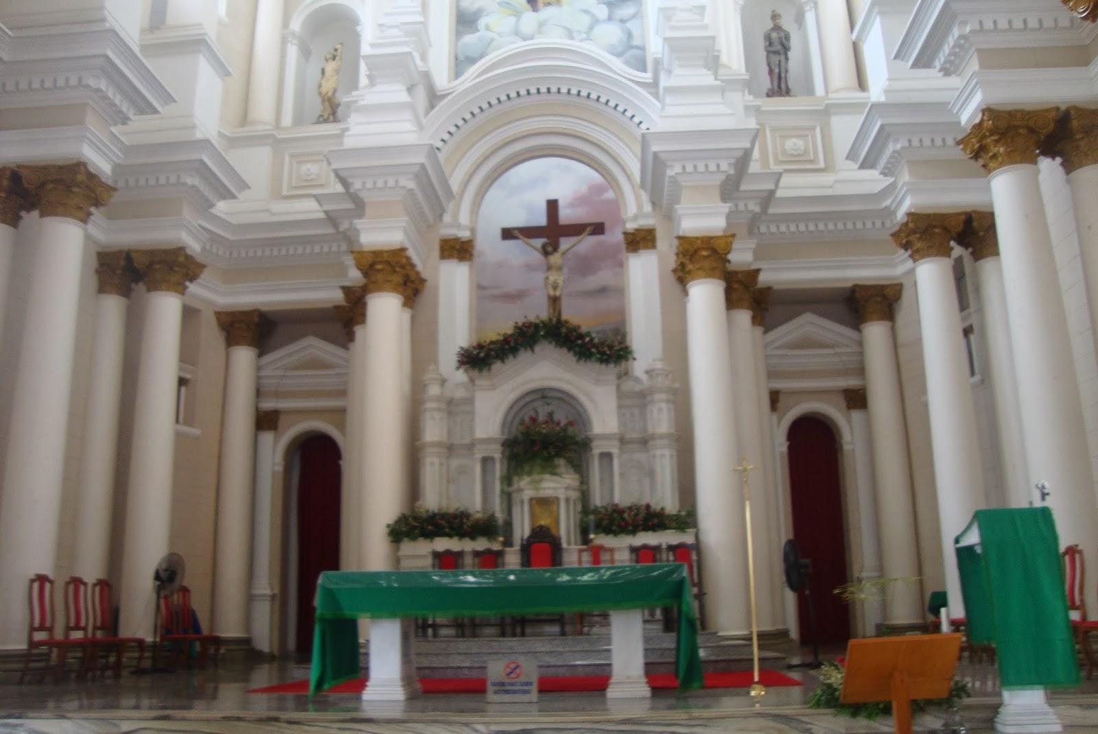 Altar da Igreja de São Sebastião, em Ilhéus - BA