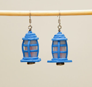 TARDIS pilot light earrings.
