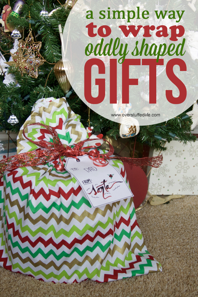 How to Make Santa Bags for Oddly Shaped Gifts - Overstuffed