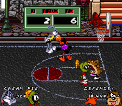 【SFC】迪士尼卡通明星籃球(兔寶寶籃球賽)原版+Hack修改版!