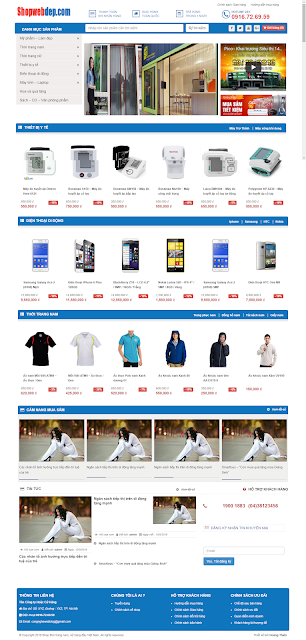 Mẫu website bán hàng điện tử | Thiết kế website bán hàng