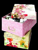Caixa de presente florida
