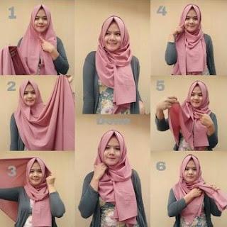 tutorial hijab pashmina sifon untuk pesta polos dan motif 11+ Tutorial Hijab Pashmina Sifon untuk Pesta Polos dan Motif yang Modis
