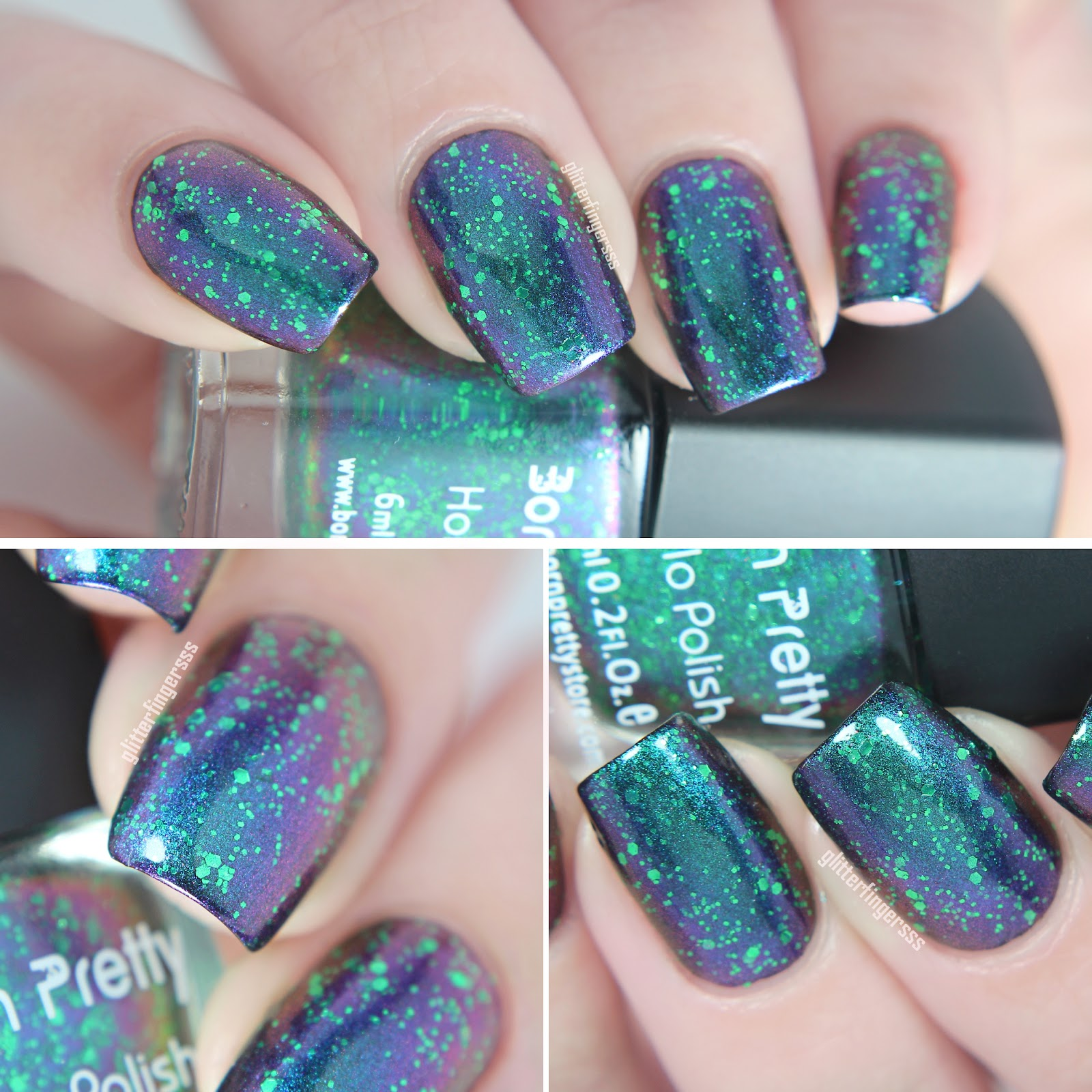 Born Pretty Store holo and chameleon nail polishes
