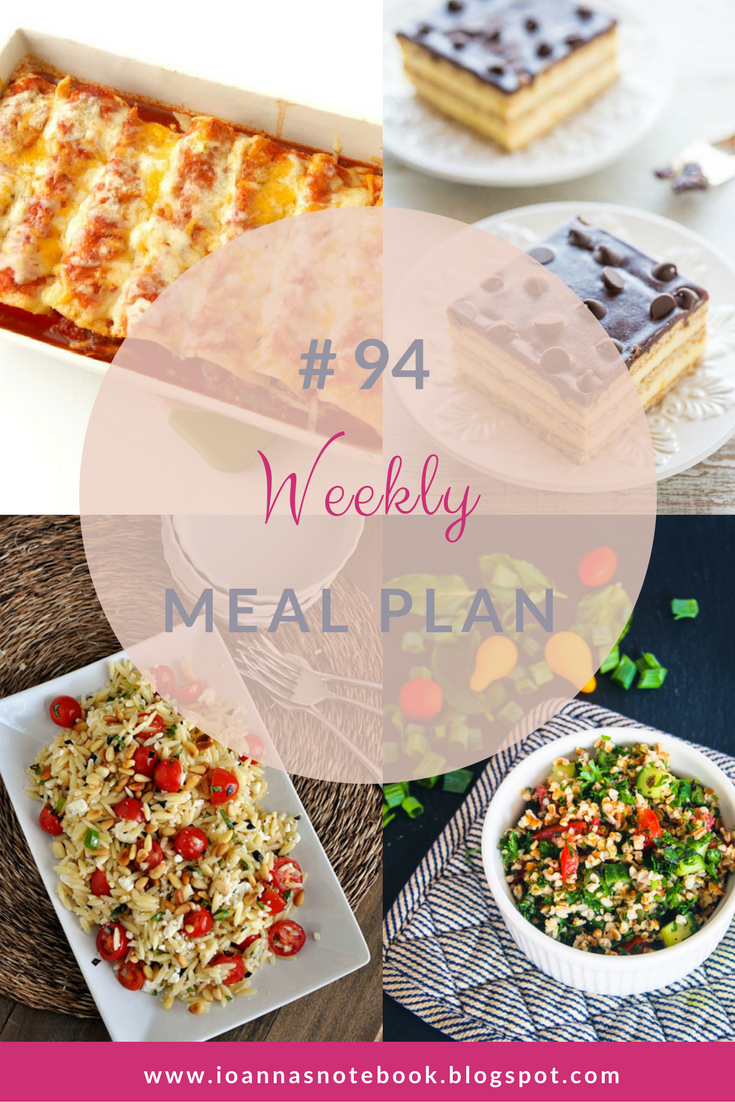 Weekly Meal Plan #94: Delicious recipes to help you plan out your week! - Ioanna's Notebook
