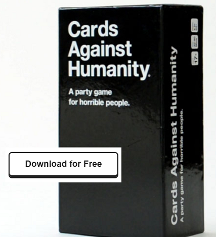 photo about Cards Against Humanity Printable named No cost Playing cards Versus Humanity Sport (Printable Down load) Discounts
