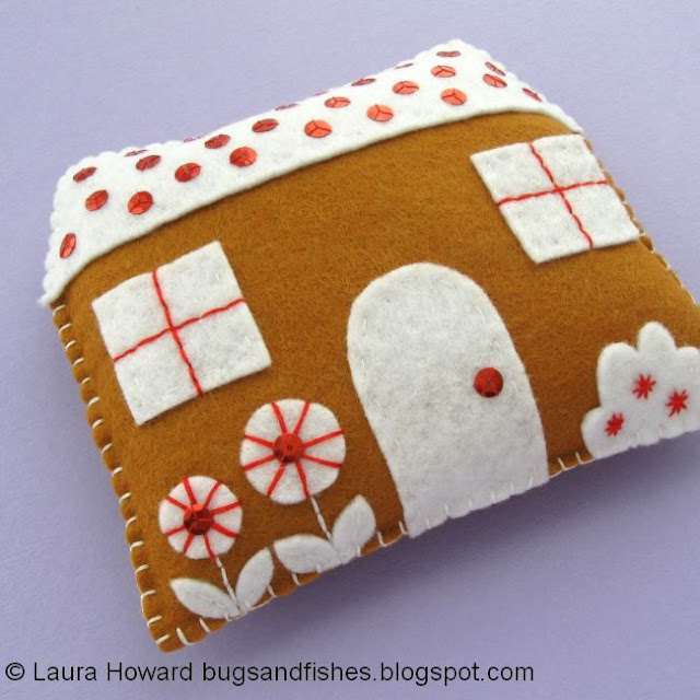 felt gingerbread house