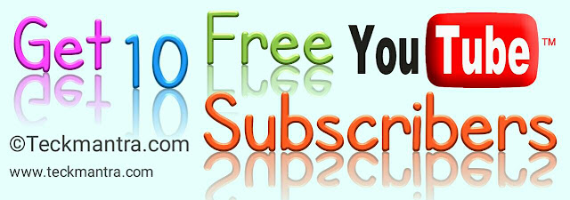 Get ten free youtYou Subscribers
