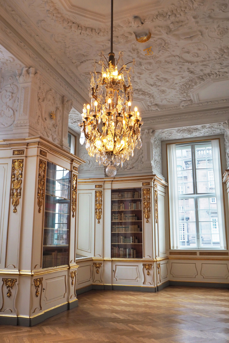 Bibliothèque du château de Christiansborg à Copenhague
