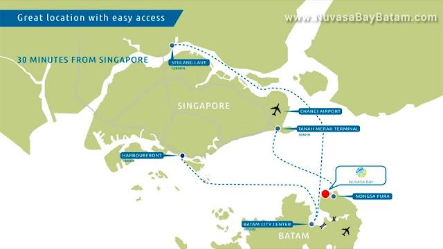 Nuvasa Bay Batam Map Location
