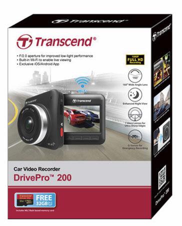 Transcend Mengumumkan Car Video Recorder DrivePro 200 Untuk Pasar Indonesia
