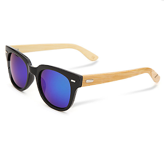 Unisex Bamboo Wooden Rivet Mercury Sunglasses Mirror Eyewear Glasses