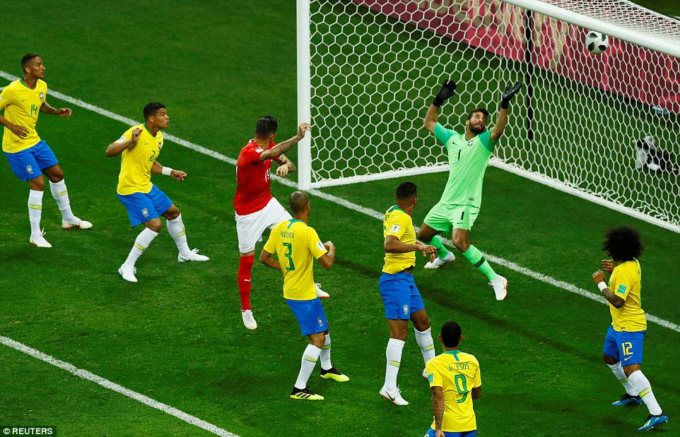 BRAZIL NAYO YABANWA MBAVU YA SARE 1-1 NA SWITZERLAND KOMBE LA DUNIA