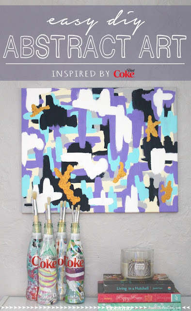 Easy abstract art diy inspired by diet coke