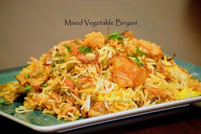 Mixed Vegetable Biryani
